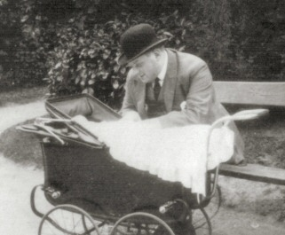 George with first son, Michel